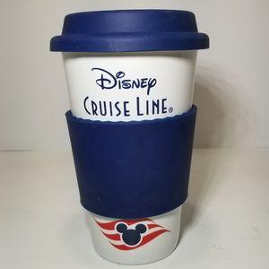 Disney Cruise Line Ceramic Travel Coffee Cup